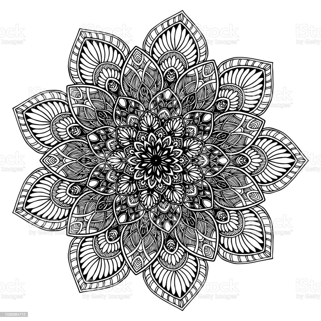 Mandalas For Coloring Book Decorative Round Ornaments Unusual Flower