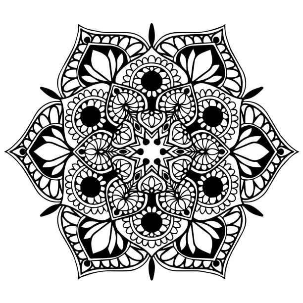 mandalas for coloring book. decorative round ornaments. unusual flower shape. oriental vector, anti-stress therapy patterns. weave design elements. yoga logos vector. - coloring book pages templates stock illustrations