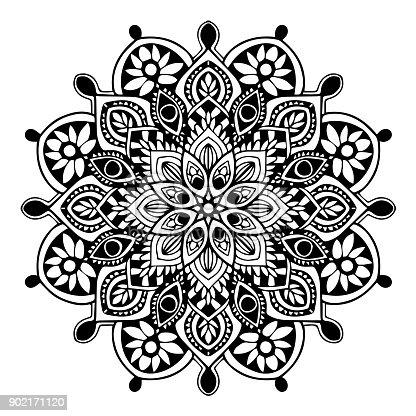 mandalas f r malbuch dekorative runde ornamente ungew hnliche bl tenform orientalische vektor. Black Bedroom Furniture Sets. Home Design Ideas