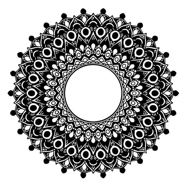 만다라 색칠에 대 한입니다. 장식 둥근 장식품입니다. 특이 한 꽃 모양입니다. 동양 벡터, 안티 스트레스 치료 패턴입니다. 디자인 요소를 짜 다. 요가의 벡터입니다. 벡터 아트 일러스트