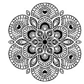 Mandalas for coloring book. Decorative round ornaments. Unusual flower shape. Oriental vector, Anti-stress therapy patterns. Weave design elements. Yoga s Vector.