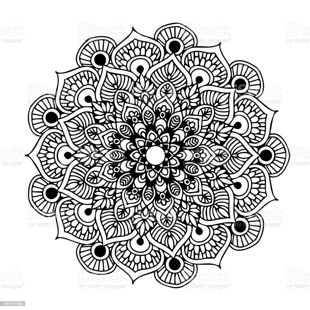 Mandalas For Coloring Book Decorative Round Ornaments Unusual Flower Shape Oriental Vector