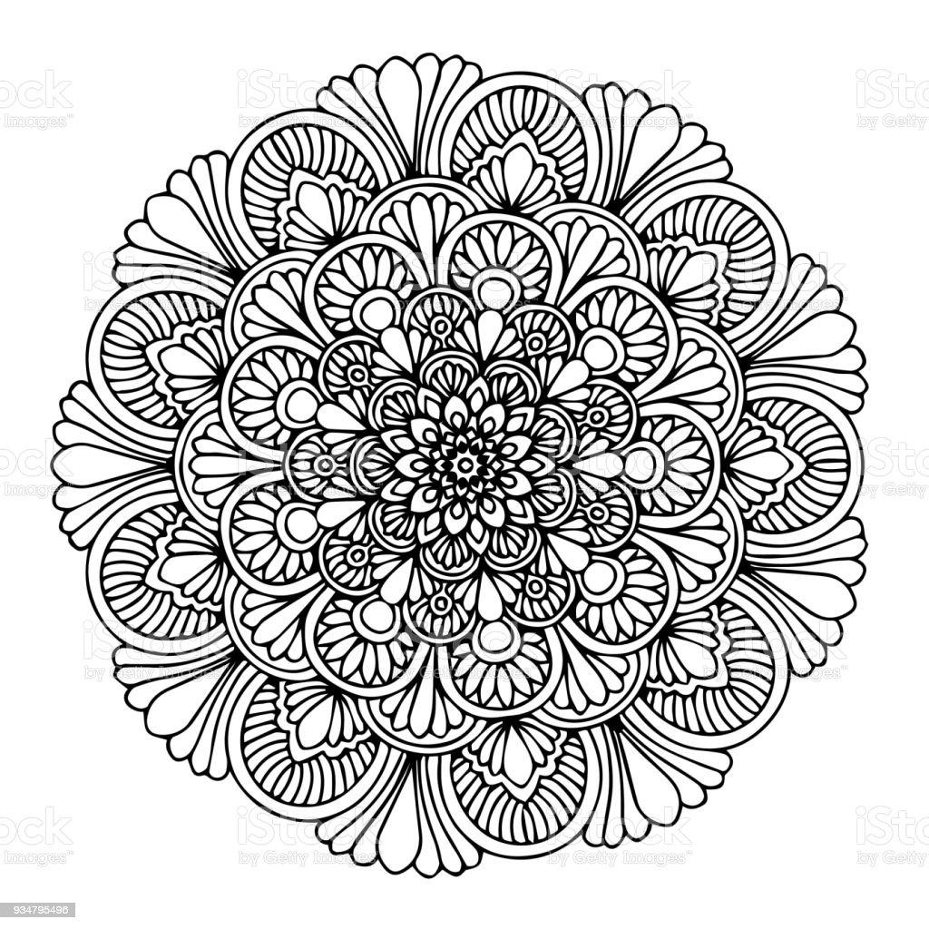 Mandalas para colorear libro ornamentos decorativos - Mandala amour ...