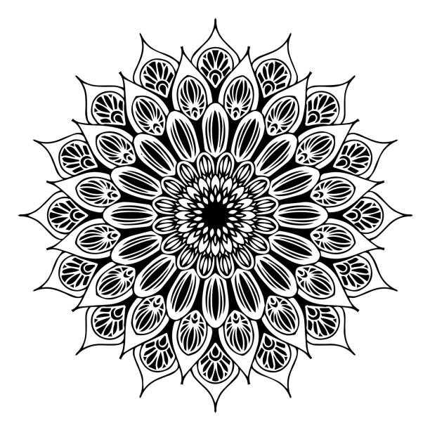 Royalty free silhouette of the indian wedding stage decoration clip mandalas for coloring book decorative round ornaments unusual flower shape oriental vector junglespirit Gallery