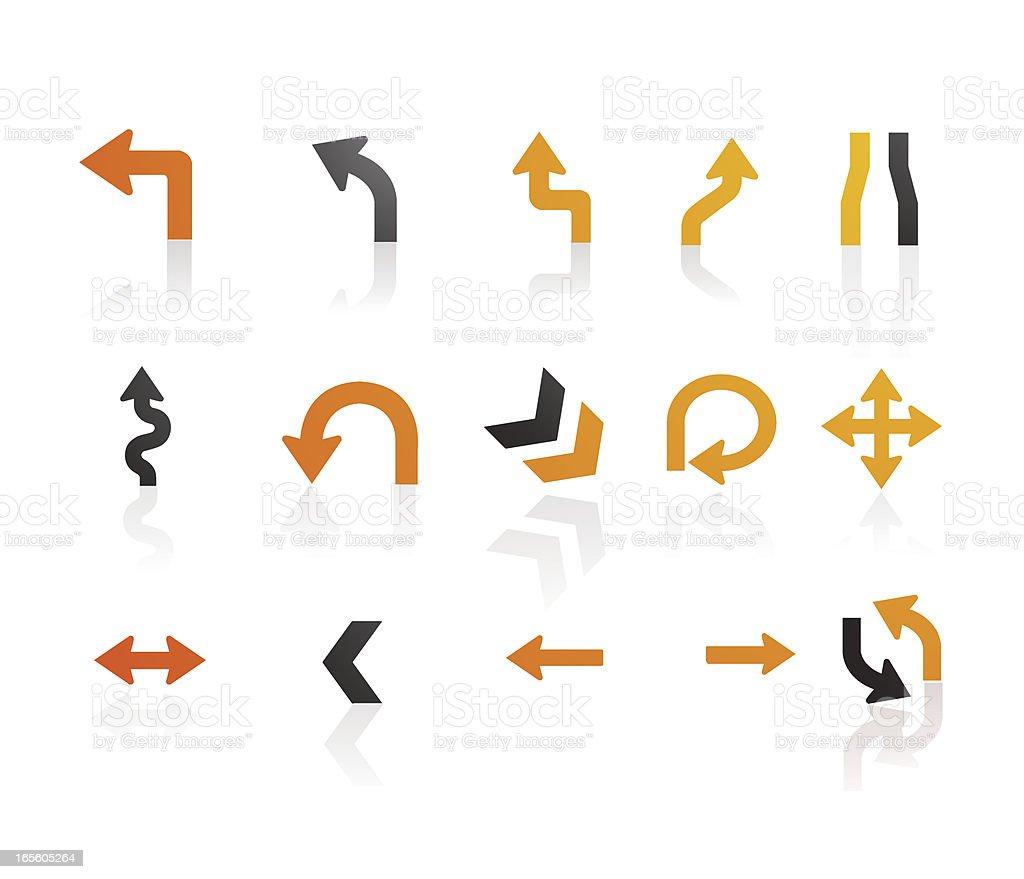 Mandarin Series |  Arrow Icons royalty-free stock vector art