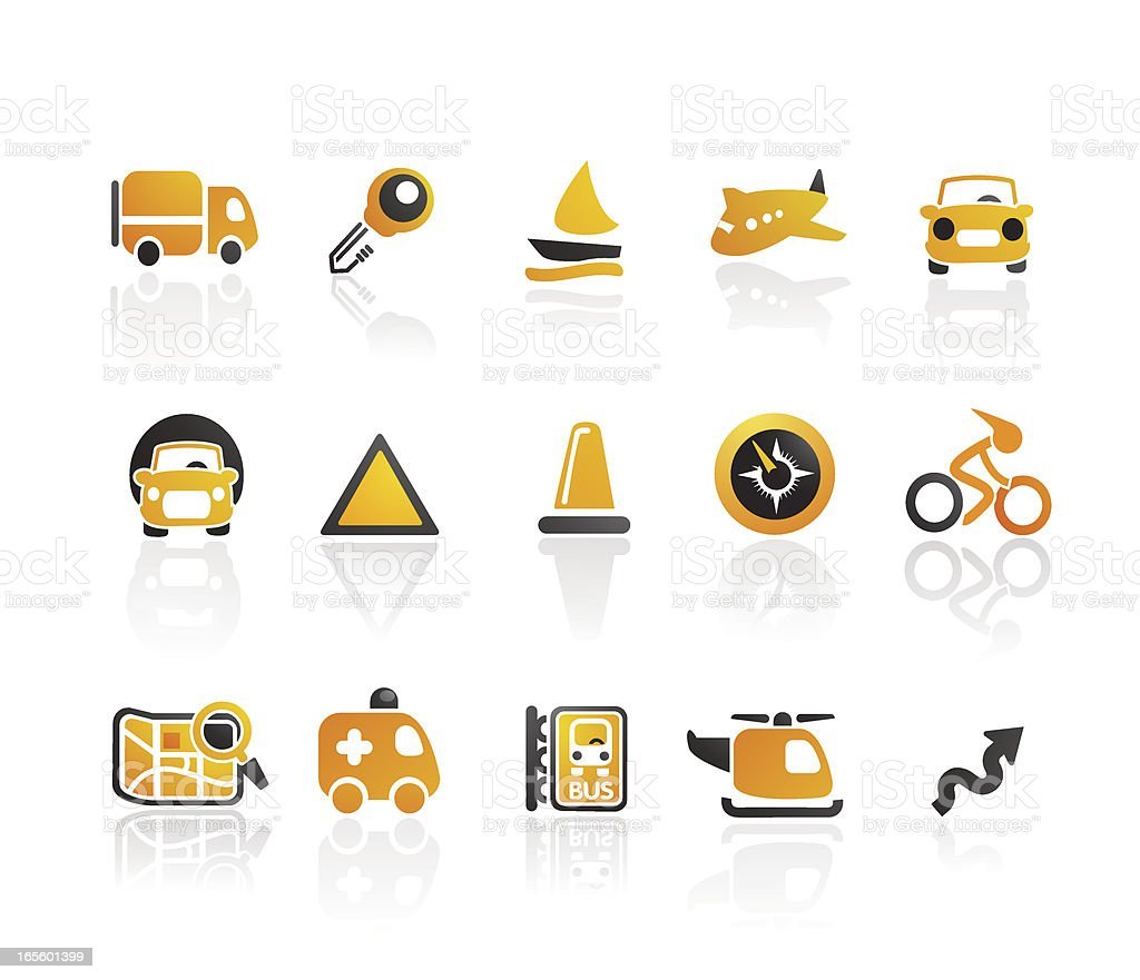 Mandarin Series |  Transportation Icons royalty-free stock vector art