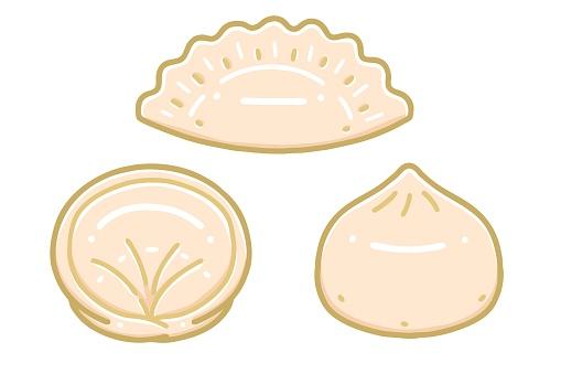 Mandu(Korean dumpling). dumplings.