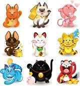 Maneki Neko Fortune Cat Collection