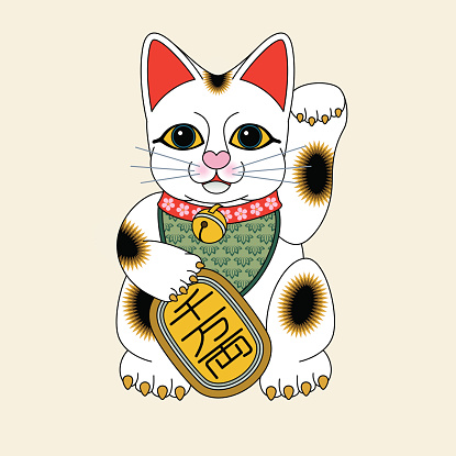 Maneki neko, Japanese beckoning cat