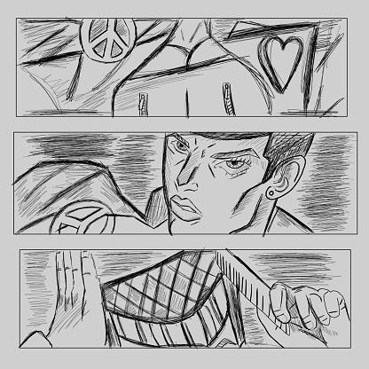 Manga anime vector