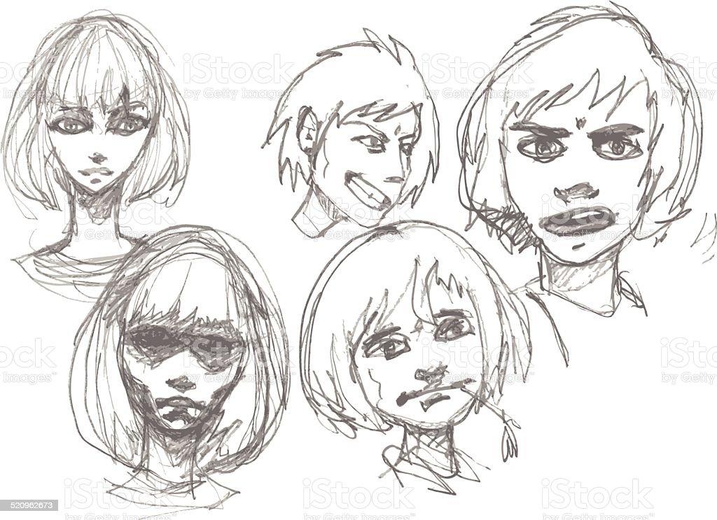 Manga Croquis Cliparts Vectoriels Et Plus Dimages De Adolescent