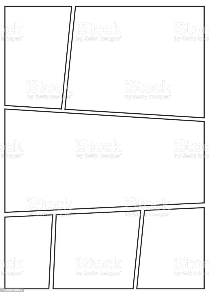 Manga Storyboard Layout Thick Stroke Stock Vector Art More Images