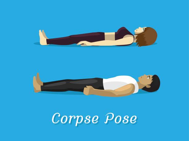 royalty free corpse pose yoga clip art vector images