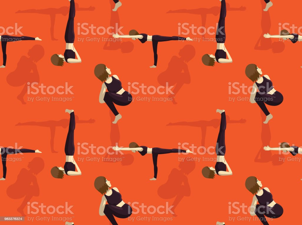 Manga Yoga Noose Pose Background Seamless Wallpaper Stock Illustration Download Image Now Istock