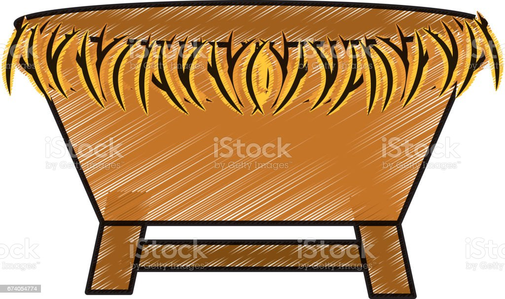 manger Straw cradle icon royalty-free manger straw cradle icon stock vector art & more images of art