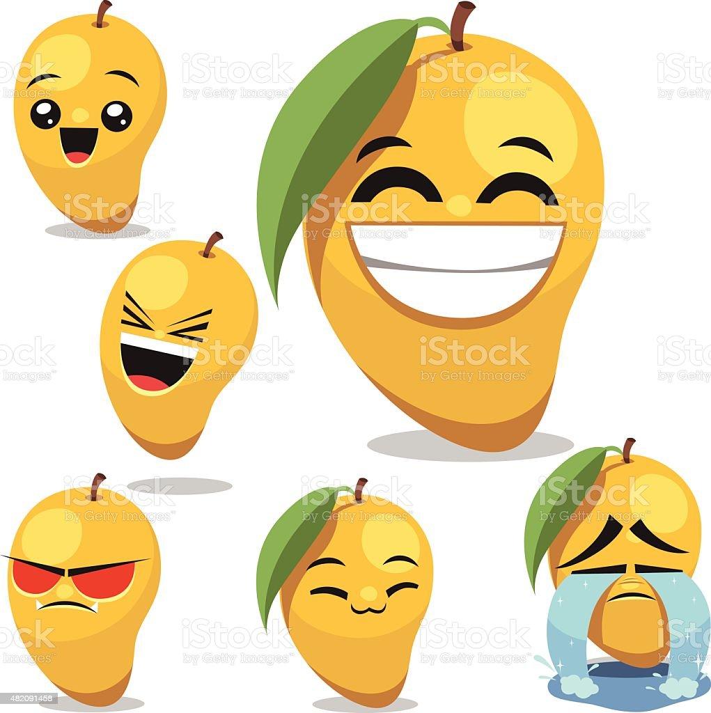 Mango de historieta Conjunto B - ilustración de arte vectorial