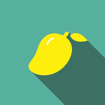 Mango fruit  flat icon series