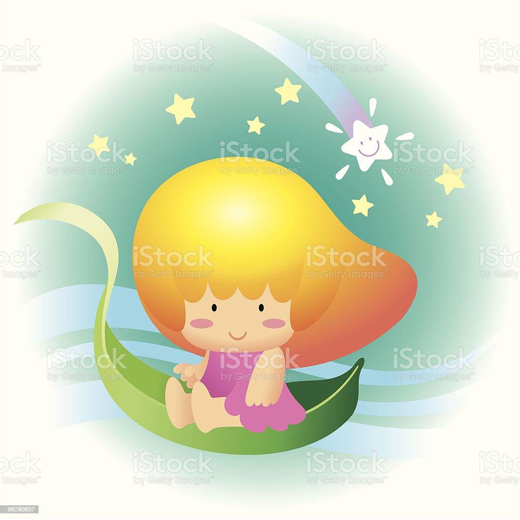 Mango Fruit Hair Girl royalty-free mango fruit hair girl stock vector art & more images of baby