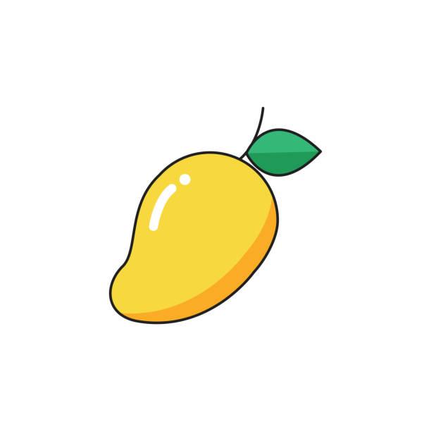ilustraciones, imágenes clip art, dibujos animados e iconos de stock de icono de mango - mango