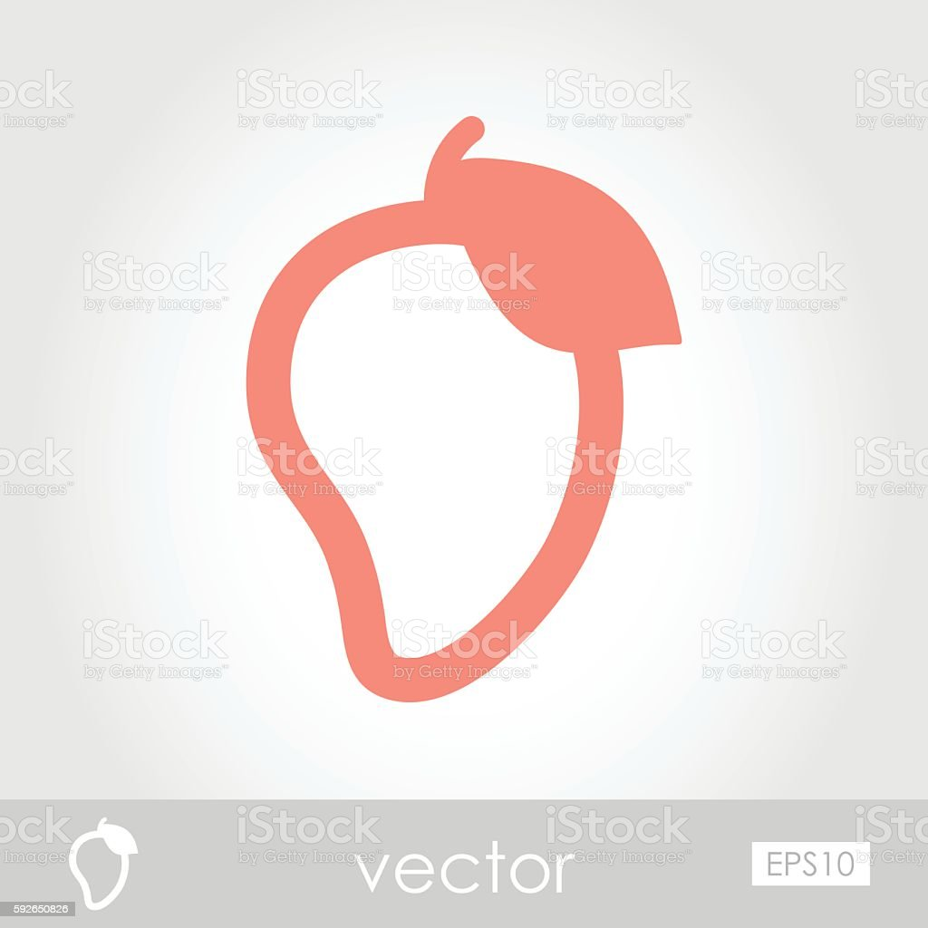 mango outline icon tropical fruit royalty free stock vector art