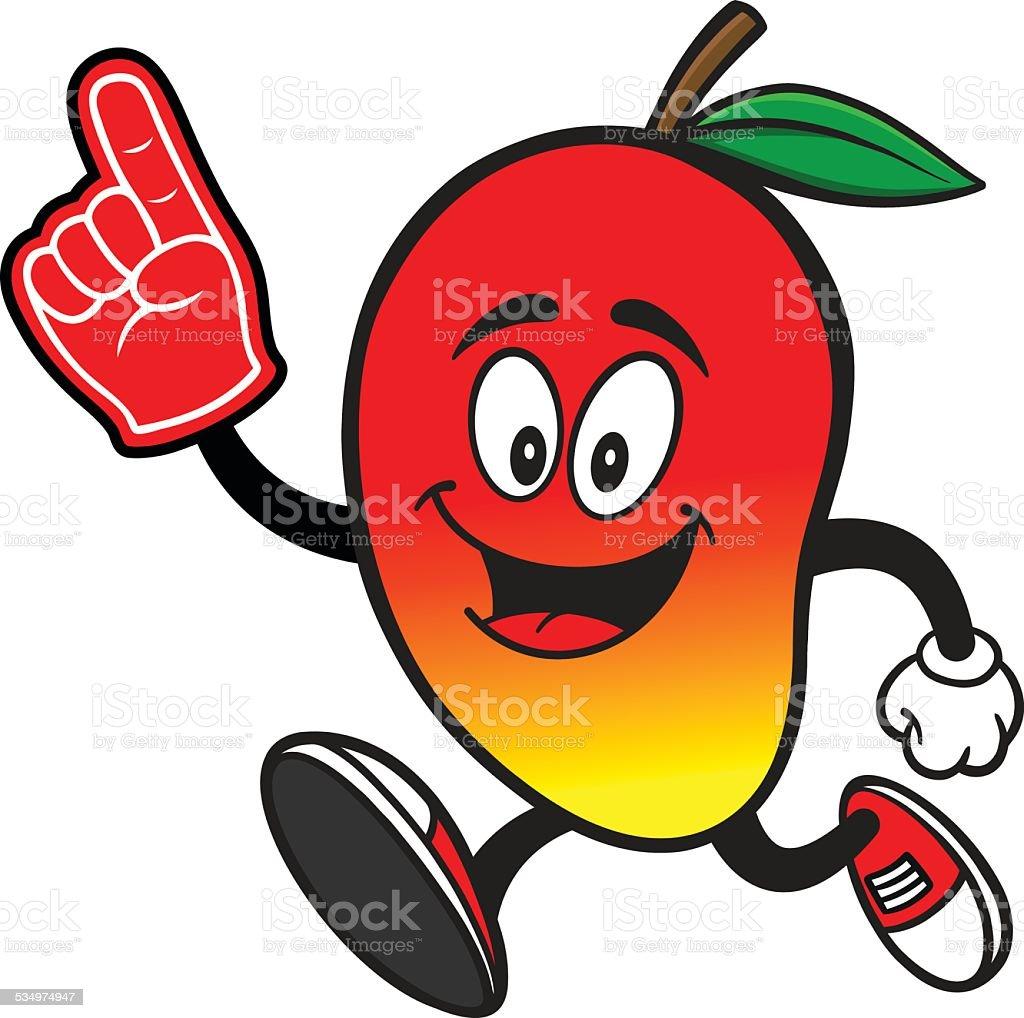 Mango Running With Foam Finger Stock Illustration ...
