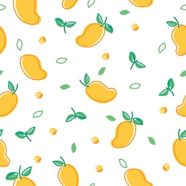ilustraciones, imágenes clip art, dibujos animados e iconos de stock de mango de patrones sin fisuras - mango