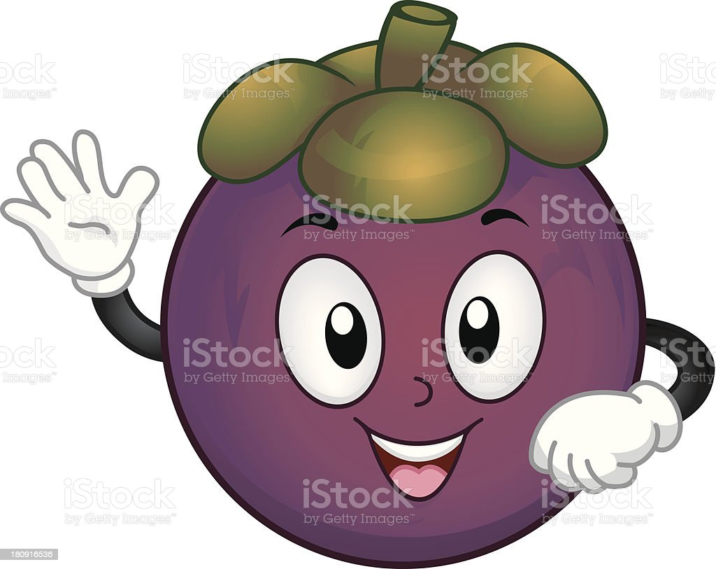 Mangosteen Mascot royalty-free mangosteen mascot stock vector art & more images of anthropomorphic
