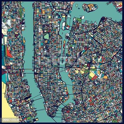 Manhattan area art map