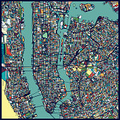Manhattan area art map
