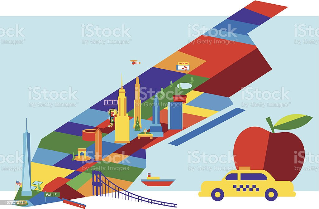 Manhattan Map royalty-free stock vector art