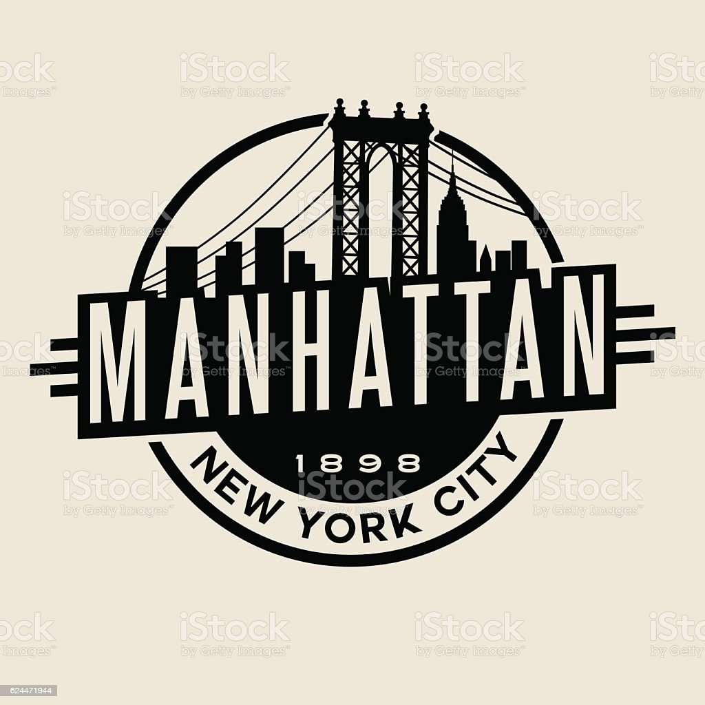 T Shirt Design York: Manhattan New York City Tshirt Or Print Typography Design