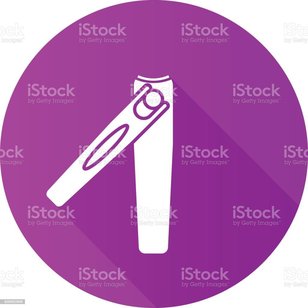 Ícone de pinças de manicura - ilustração de arte em vetor