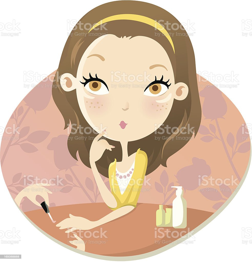 Manicure royalty-free stock vector art