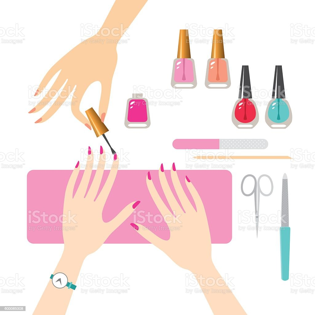 Manicure Stock Vector Art & More Images of Adult 600065308 ...