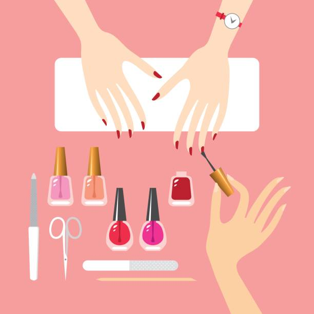 Best Manicure Illustrations, Royalty-Free Vector Graphics ...