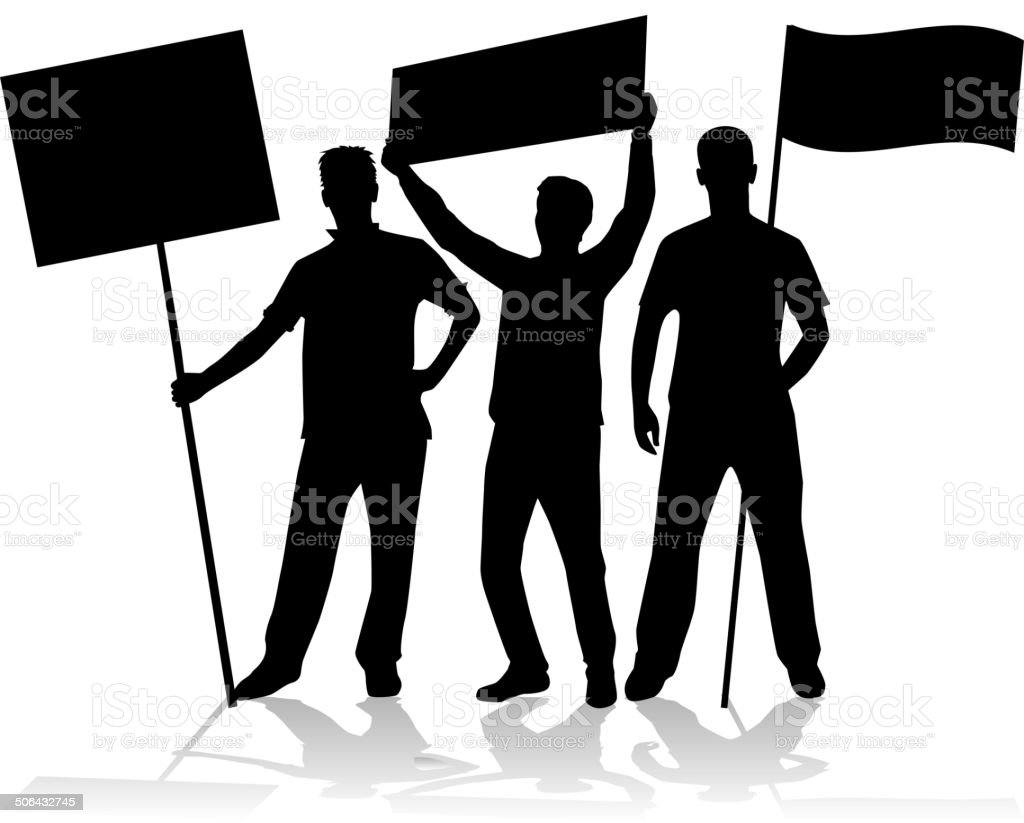 manifestation - a group of people protesting royalty-free stock vector art