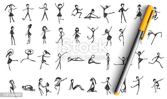 istock Manikins doodle set 1281056892