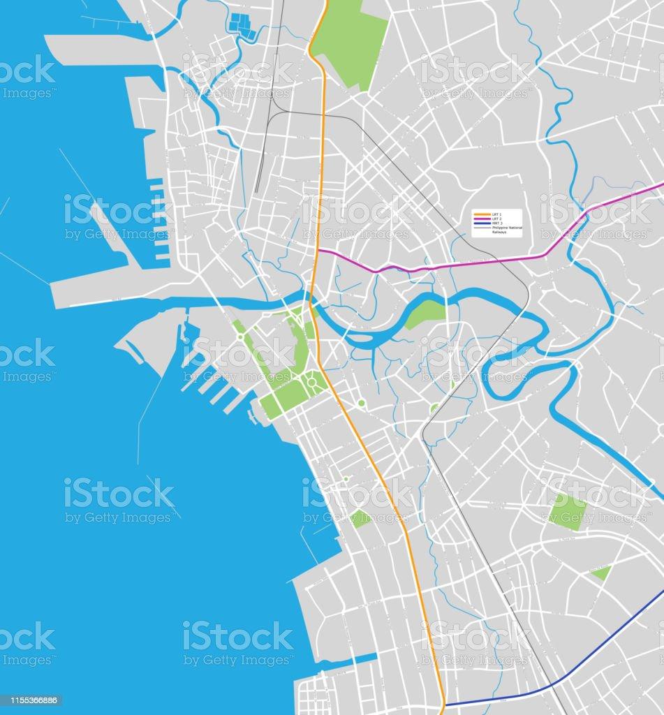 Manila City Map Stock Illustration Download Image Now Istock Map of metro manila with manila highlighted. manila city map stock illustration download image now istock