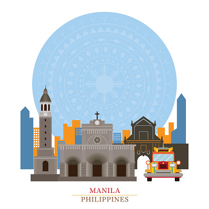 Philippines On Globe Stock Illustration - Download Image