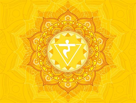 Manipura chakra illustration vector