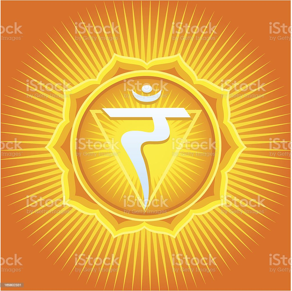 Manipura Chakra royalty-free stock vector art