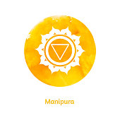 Manipura chakra. Vector Illustration.