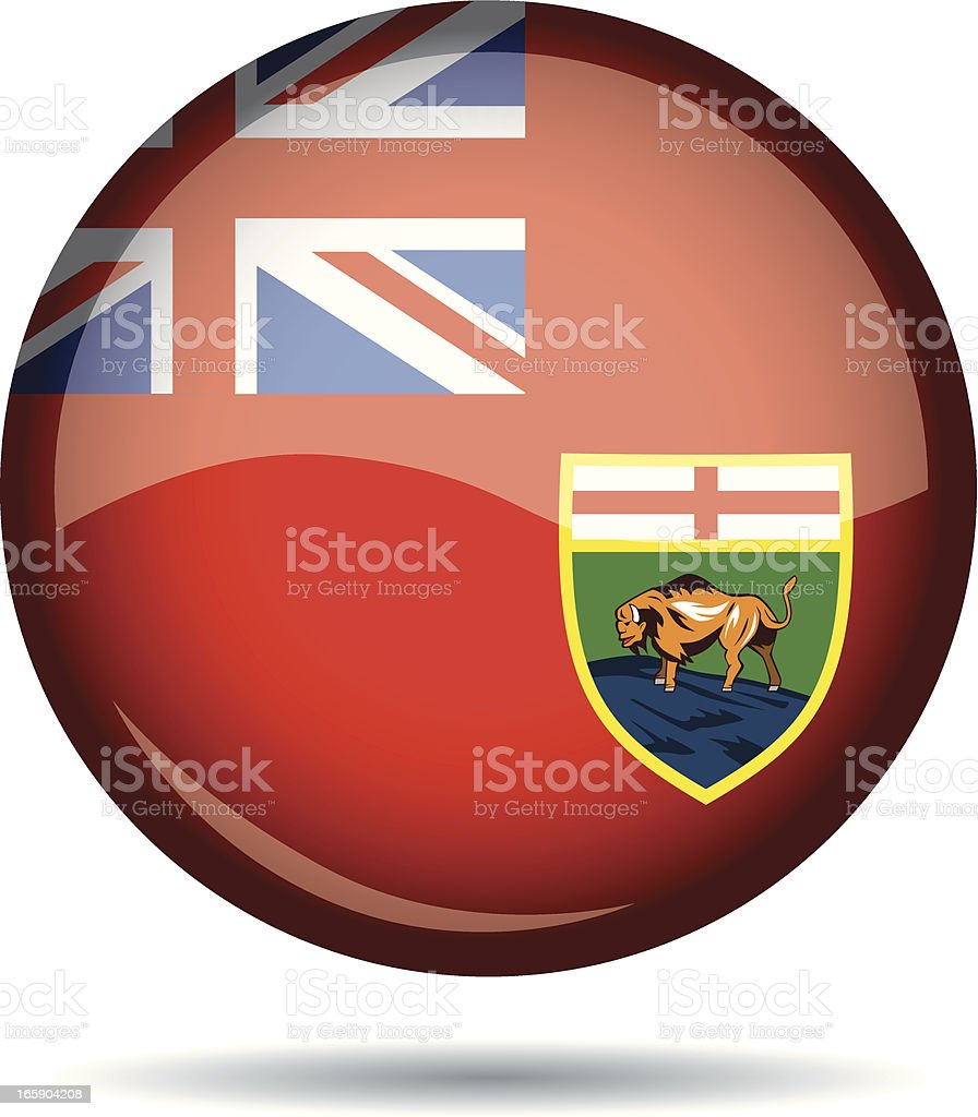Manitoba flag royalty-free stock vector art
