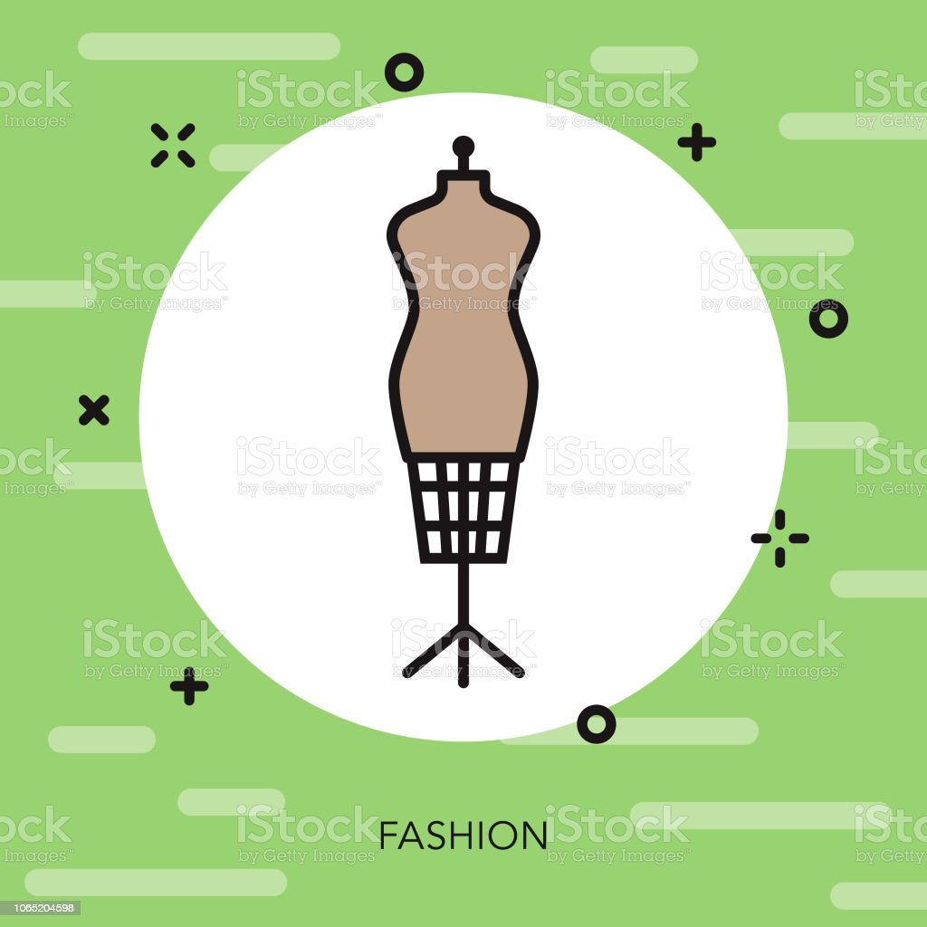 Mannequin Thin Line Italy Icon vector art illustration