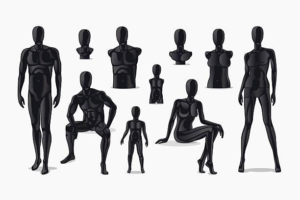 mannequin vecteurs et illustrations libres de droits istock. Black Bedroom Furniture Sets. Home Design Ideas