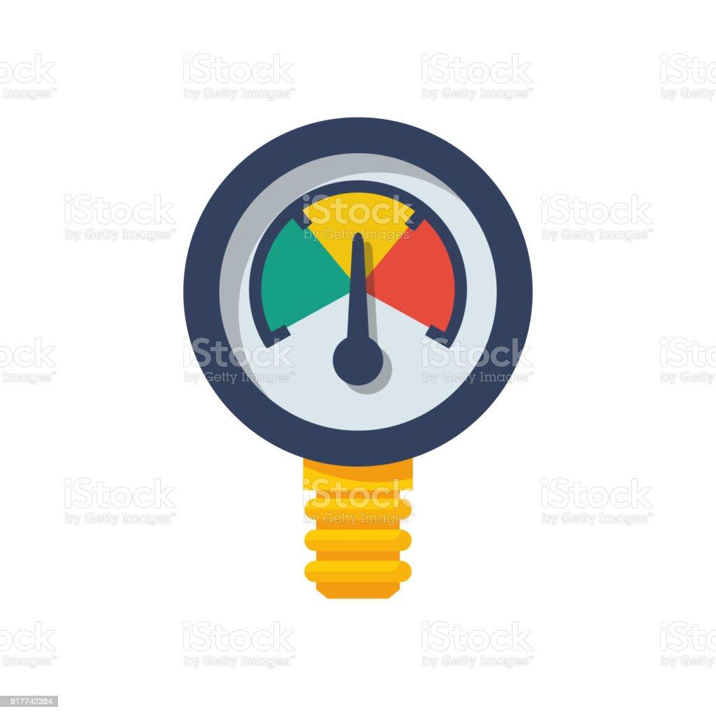 Manometer pressure vector vector art illustration