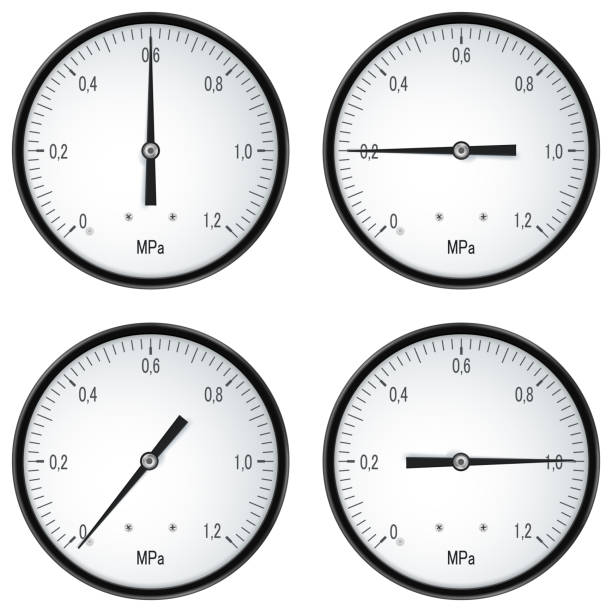 壓力測量的電錶向量藝術插圖