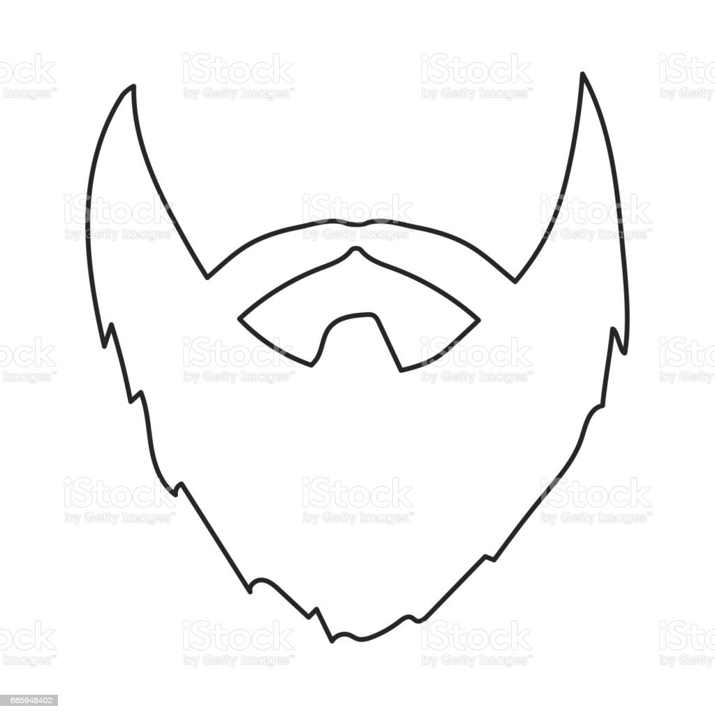 Beard outline - photo#47