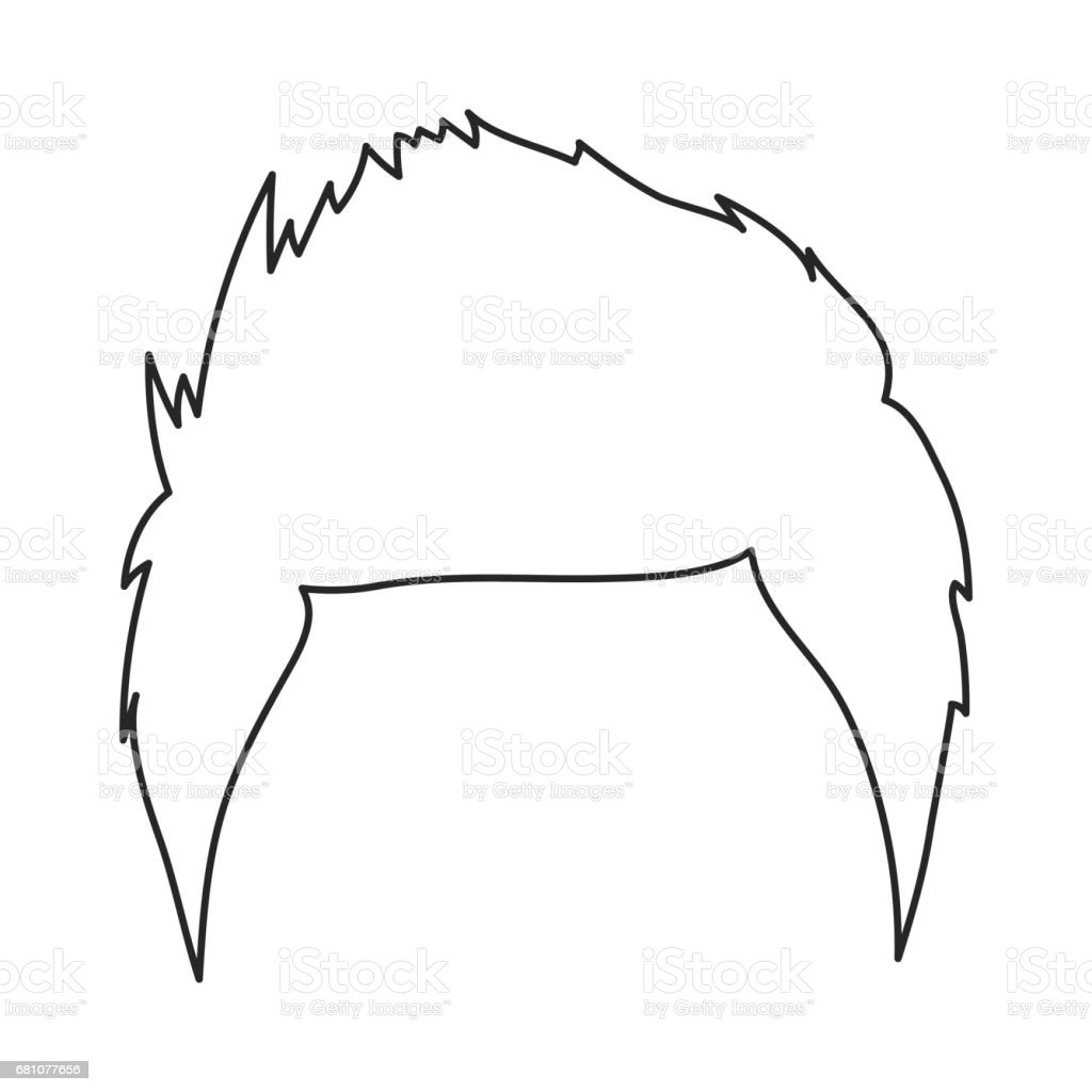 Man's hairstyle icon in outline style isolated on white background. Beard symbol stock vector illustration. royalty-free mans hairstyle icon in outline style isolated on white background beard symbol stock vector illustration stock vector art & more images of adult