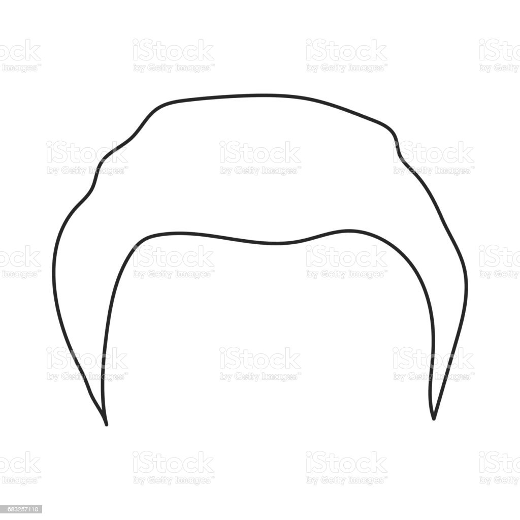 Man's hairstyle icon in outline style isolated on white background. Beard symbol stock vector illustration. Lizenzfreies mans hairstyle icon in outline style isolated on white background beard symbol stock vector illustration stock vektor art und mehr bilder von erwachsene person